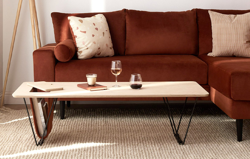 Shop the Hayes Coffee Table featuring custom storage options