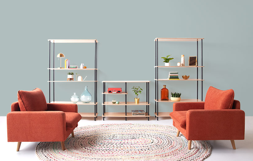 The Atlas Collection—modular, adjustable shelving starting at $200