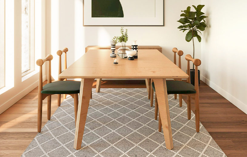 From bistro table, to formal dining table, to office desk—customize Vienna for any space.